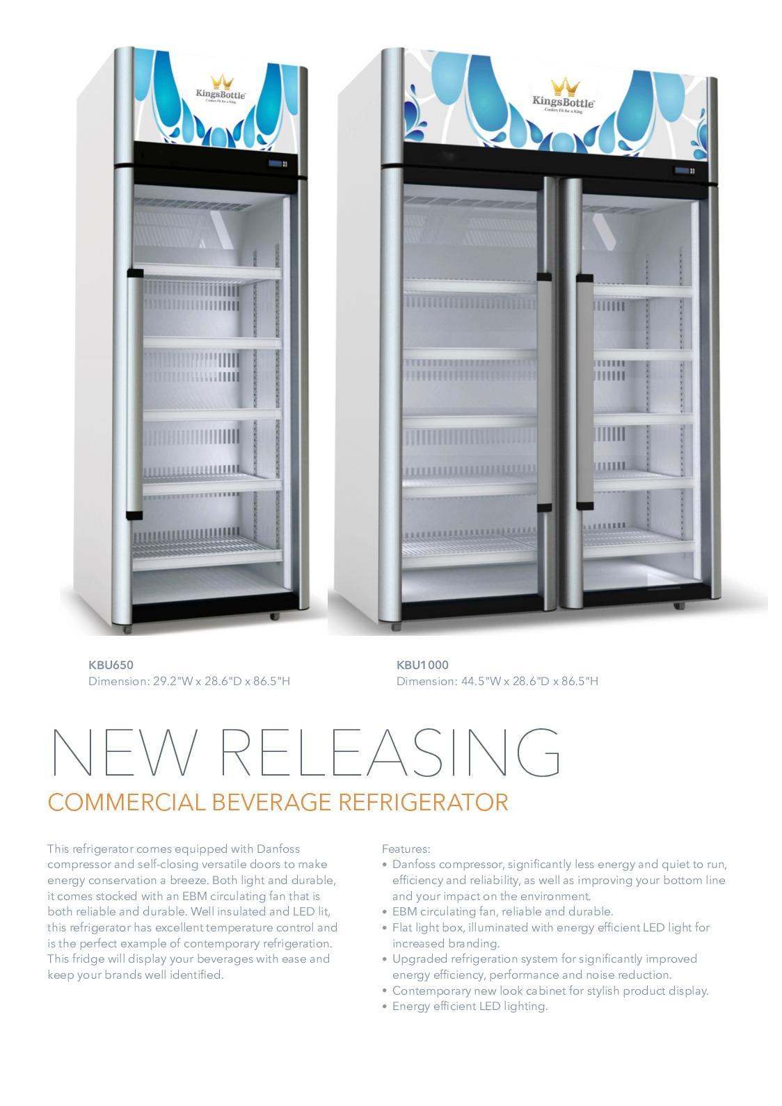 Calameo Commercial Refrigerator