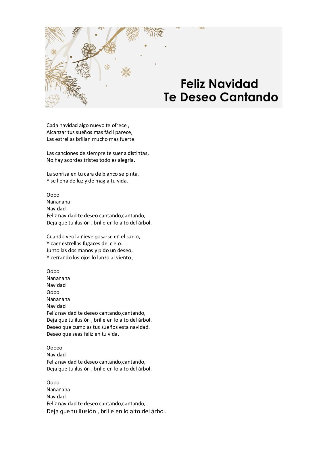 marcador paquete asignar  Calaméo - Cancion Feliz Navidad Te Deseo Cantando