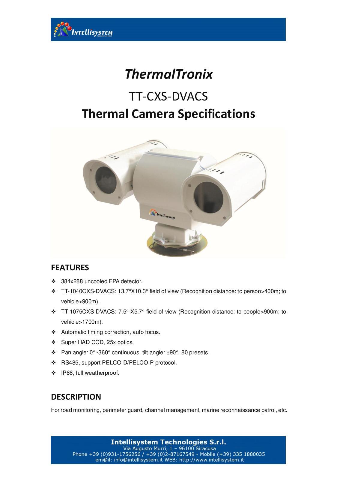 Calaméo - Thermal Tronix Tt Cxs Dvacs Datasheet - SECURITY