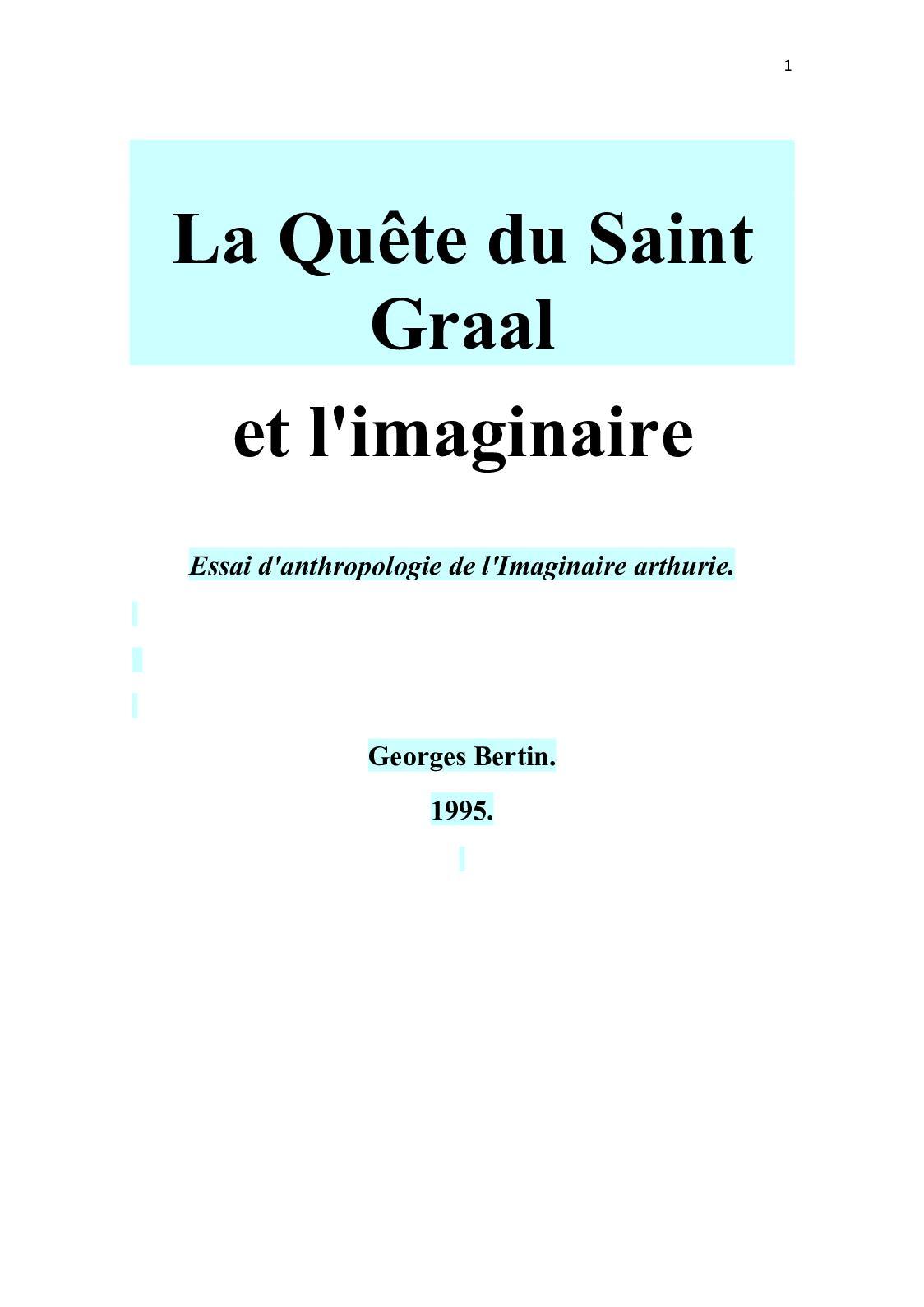 Calameo 152151999 La Quete Du Saint Graal Bertin Georges 1