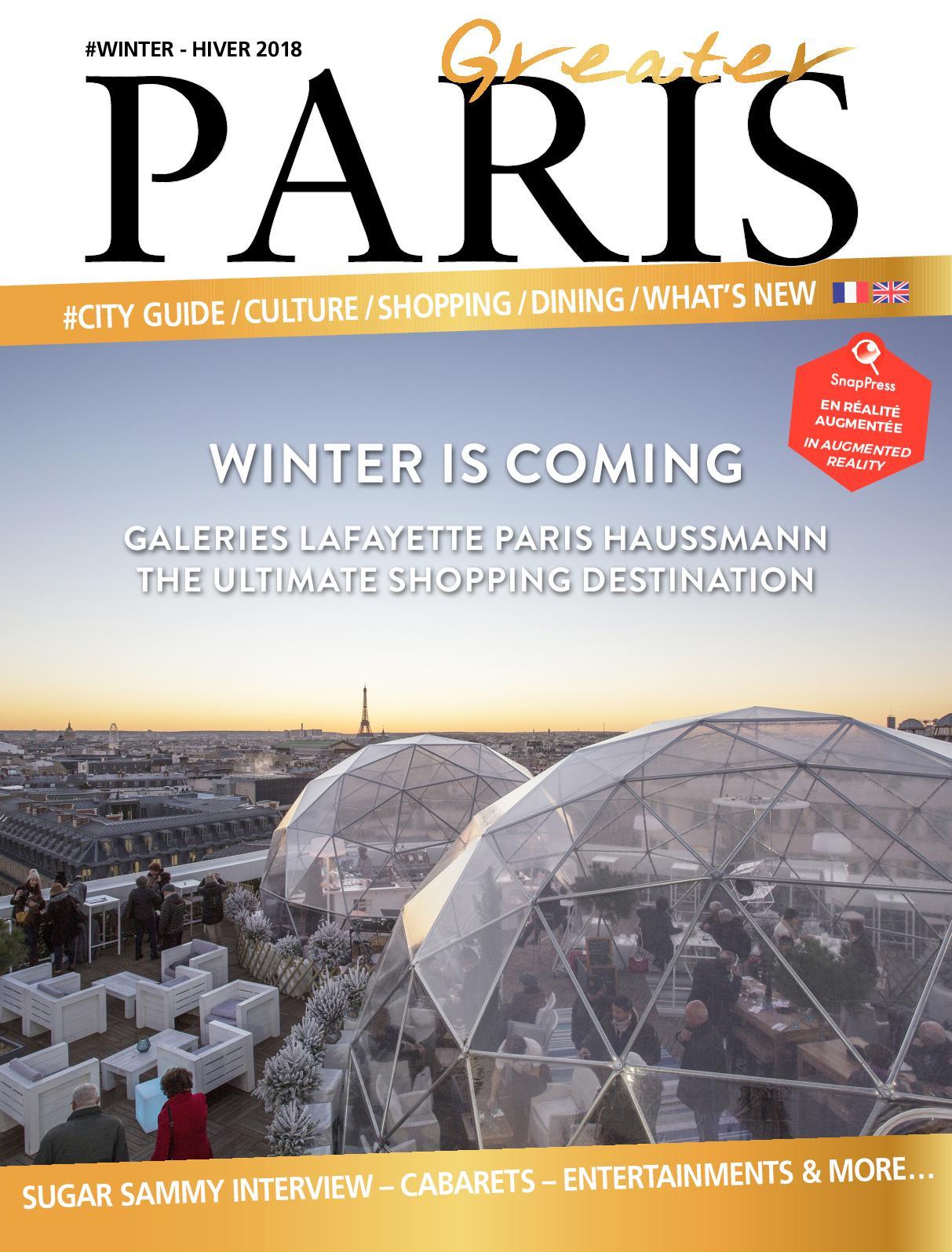 2018 Winter Hiver 2019 Greater Paris Calaméo knX80wOP