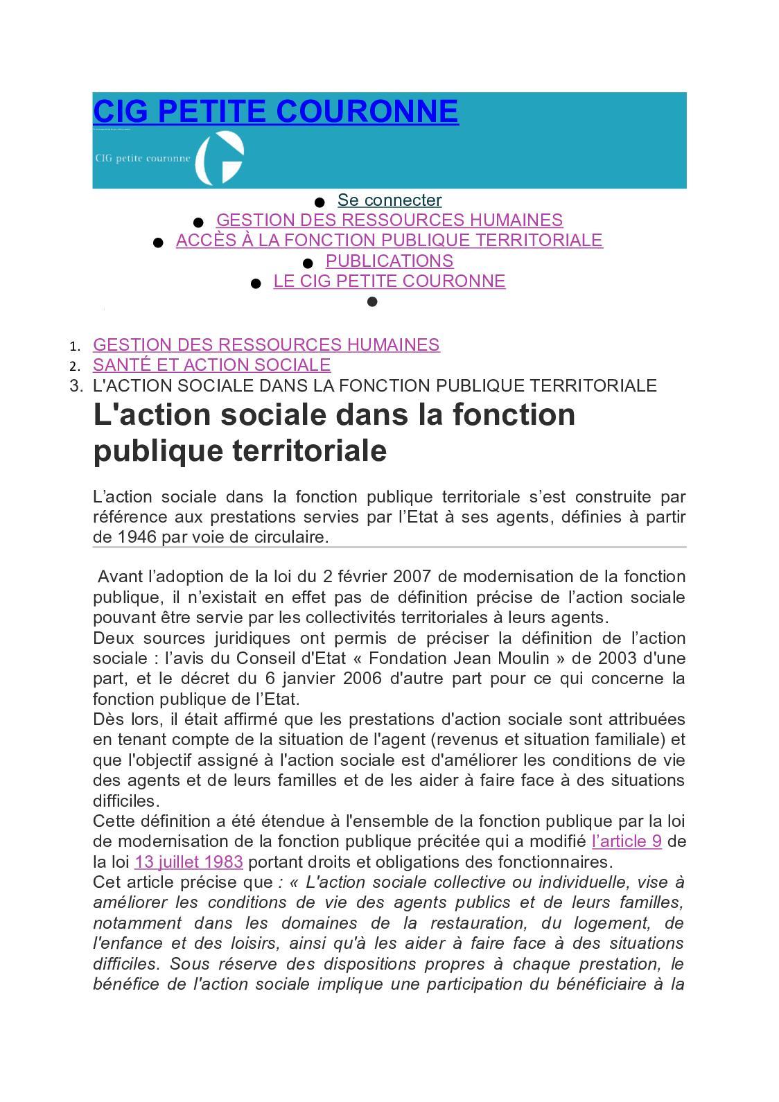 19f493f18b3 Calaméo - Cig Petite Couronne Action Sociale Fonction Publique Territoriale