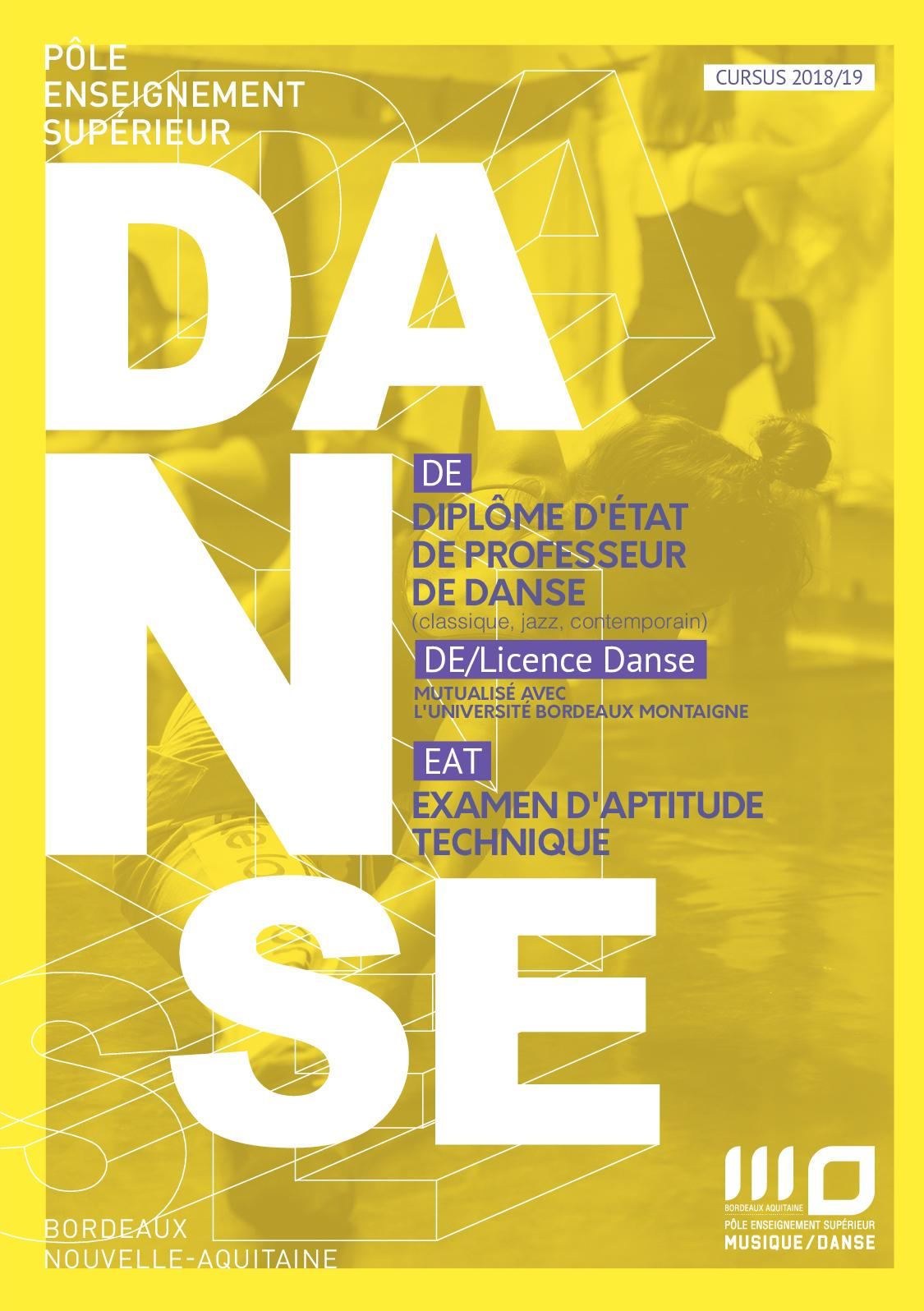 Calendrier Examens Bordeaux Montaigne.Calameo Depliants Formation Danse 2018 2019