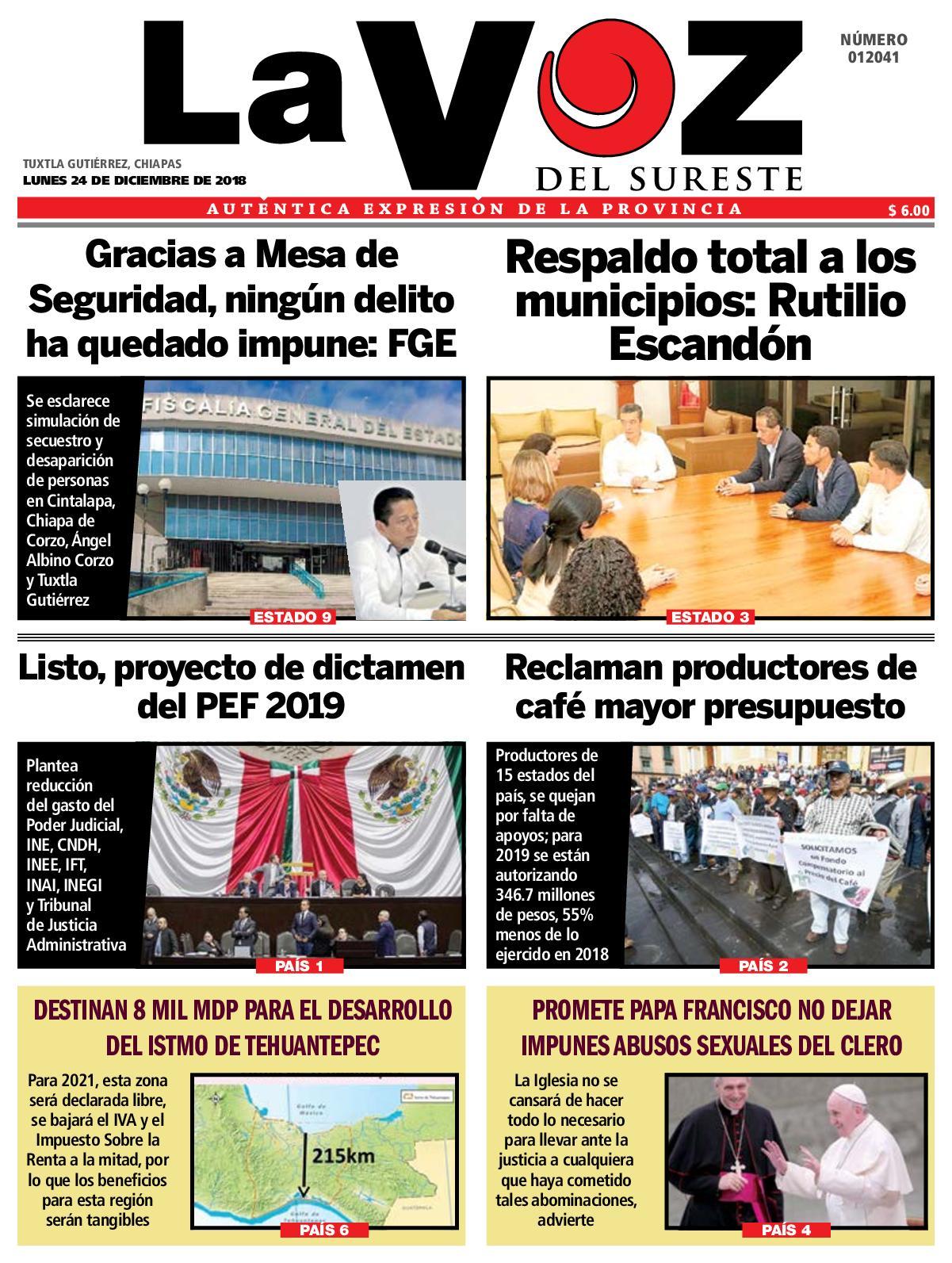 Calaméo - Diario La Voz del Sureste 24-12-2018 f8dfc2f397a