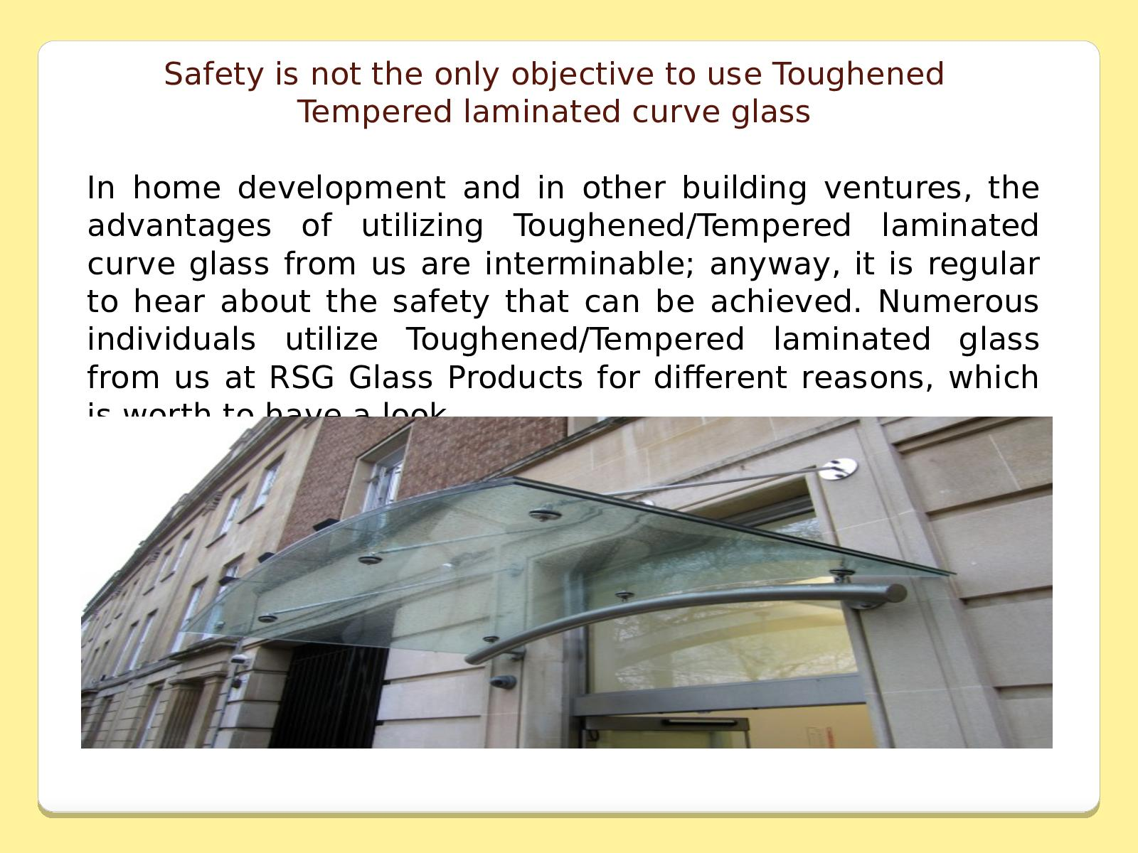 difference between laminated safety glass and toughened glass