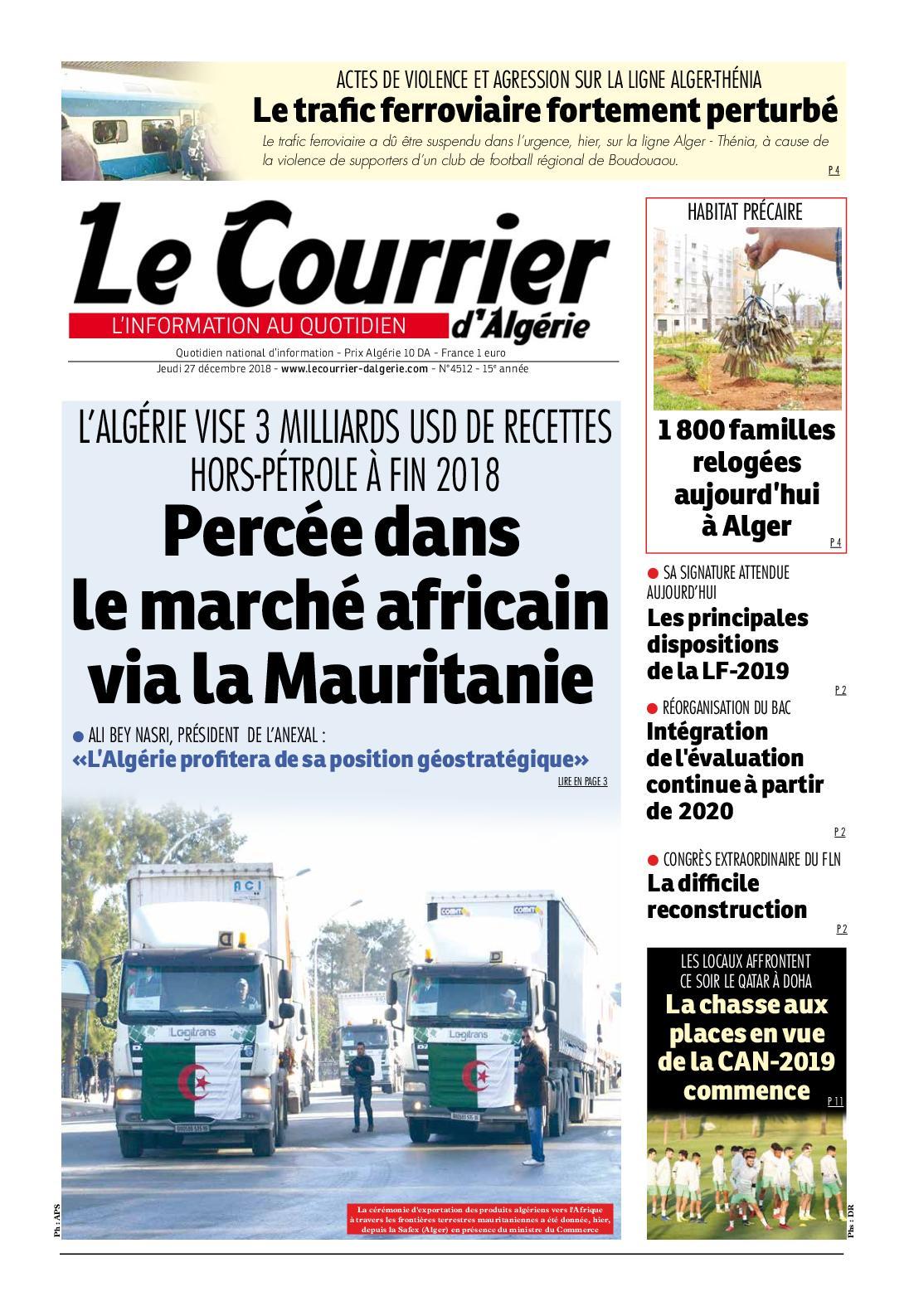c4c967a5650 Calaméo - Le Courrier d Algérie du jeudi 27 décembre 2018