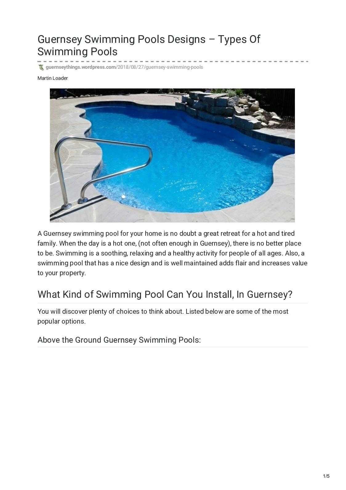 Calaméo - Guernsey Swimming Pools Designs Types