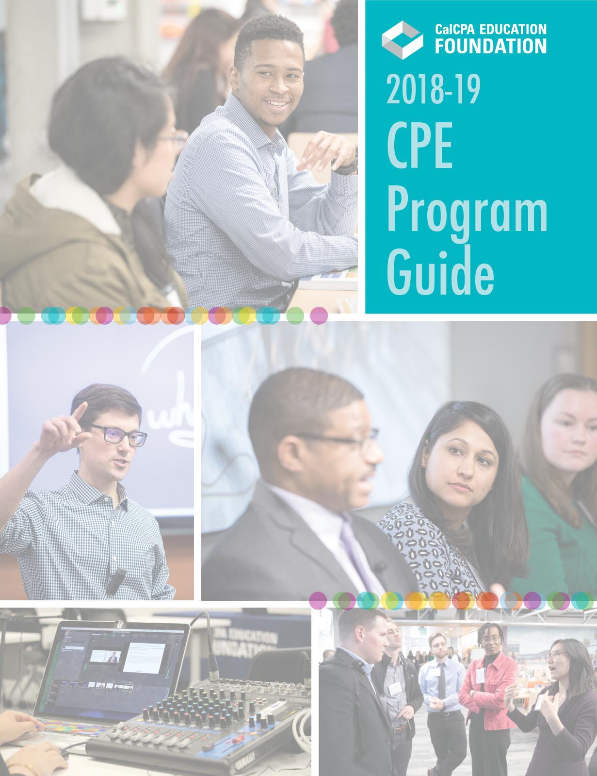 Calaméo - 2018-19 CPE Program Guide