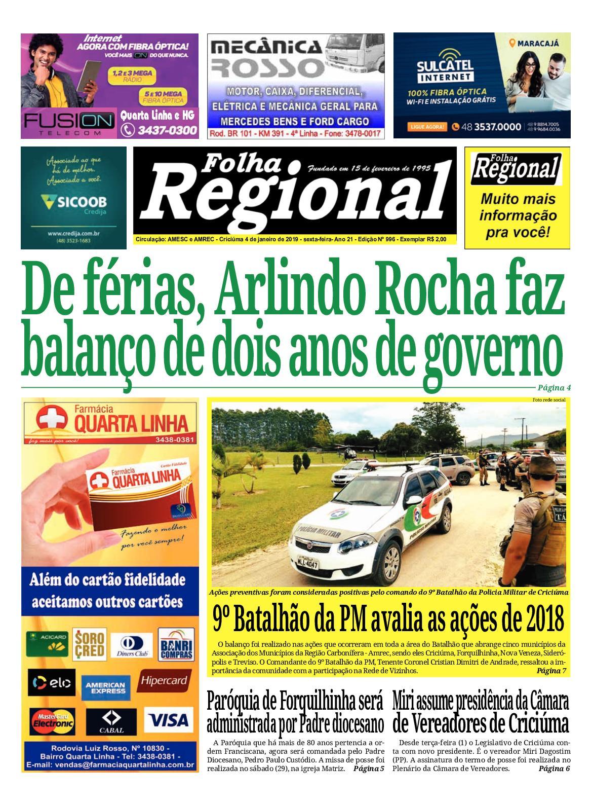 Folha Regional Ed.996 - 04 01 2019 - CALAMEO Downloader c9267fcd11