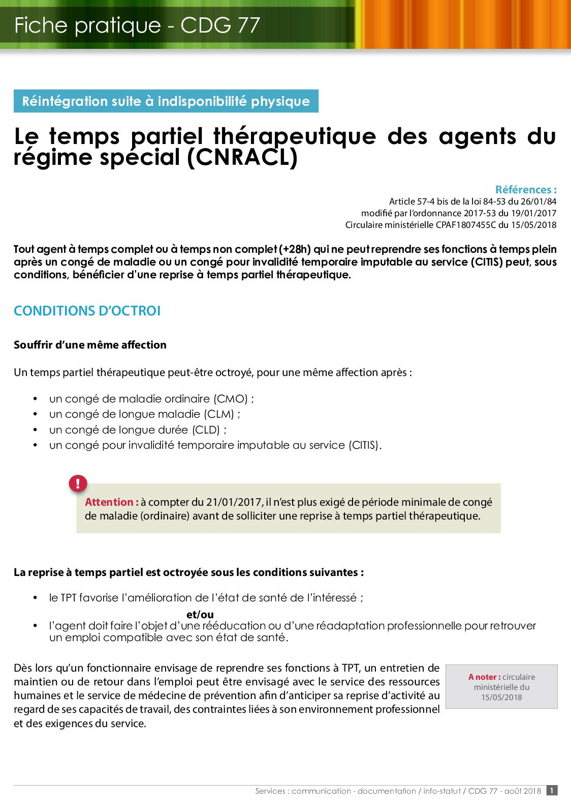 Modèle Lettre Réintégration Temps Plein Fonction Publique - Exemple de Lettre