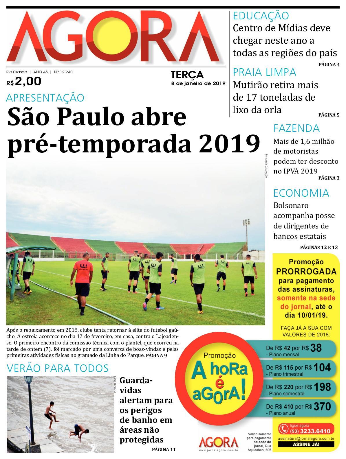 Calaméo - Jornal Agora - Edição 12240 - 8 de Janeiro de 2019 d2ba8f50a7ece