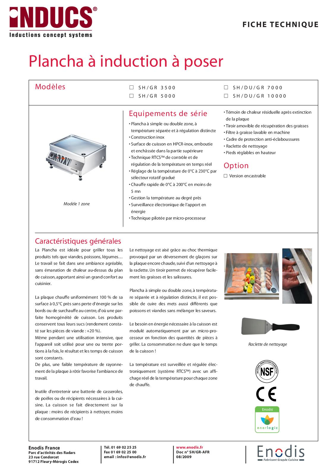 Produit Pour Nettoyer Plaque À Induction calaméo - enodis - ft induction plancha