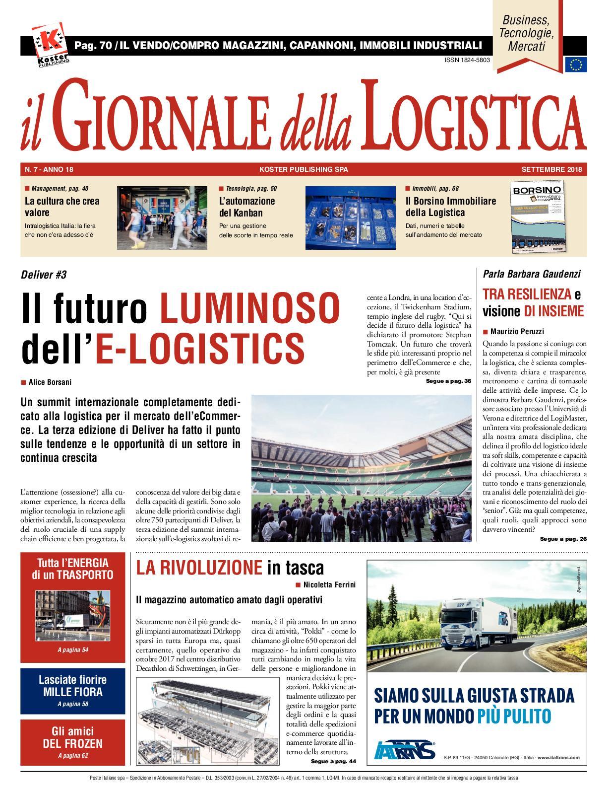 Calaméo Il Giornale Della Logistica Settembre 2018