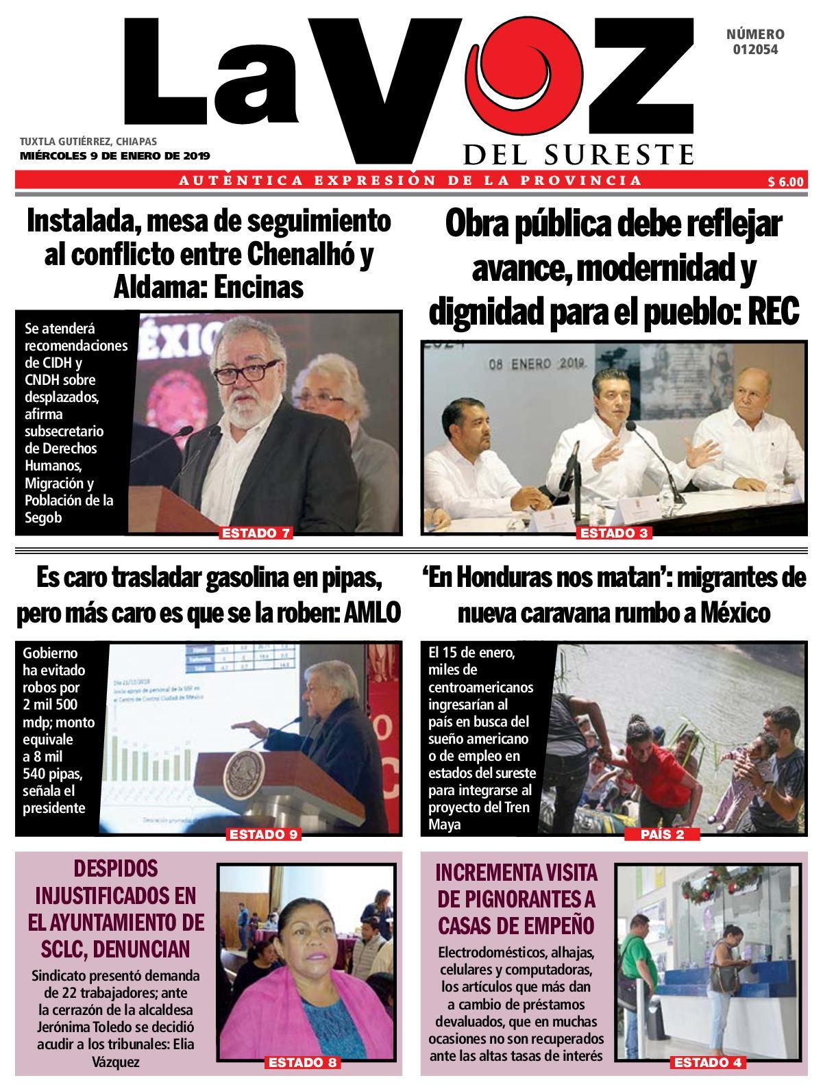 Calaméo - Diario la Voz del Sureste 09 01 2019 82dfbca984f
