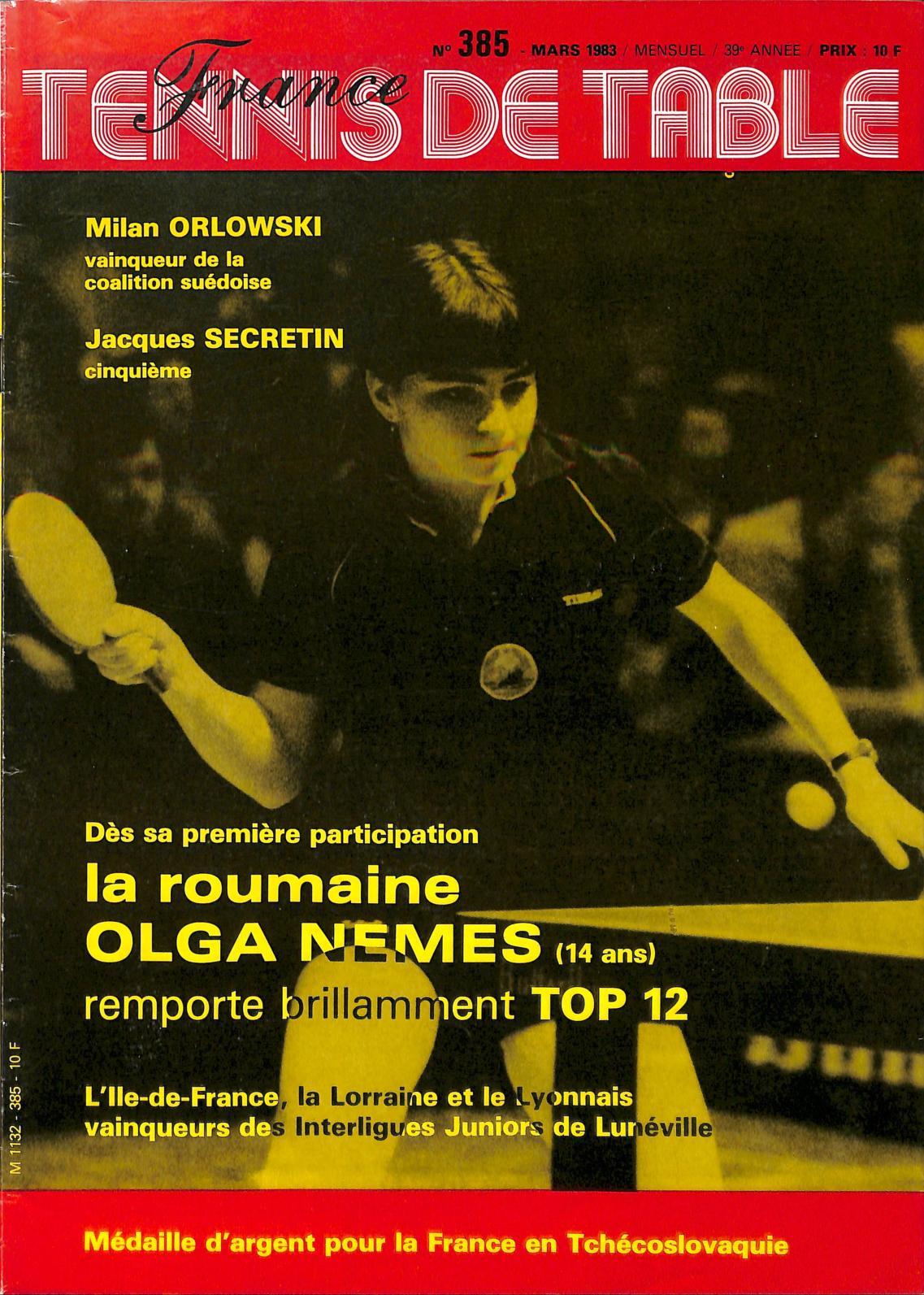 03 Table 385 France Calaméo 1983 De Tennis wOknP0