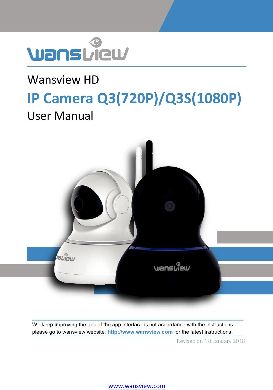 Calaméo - User Manual Of Wansview Indoor Camera Q3&q3s