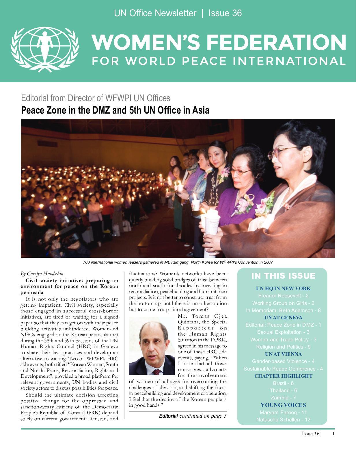 Calaméo - WFWPI UN Newsletter Issue 36 c1b0b97be05