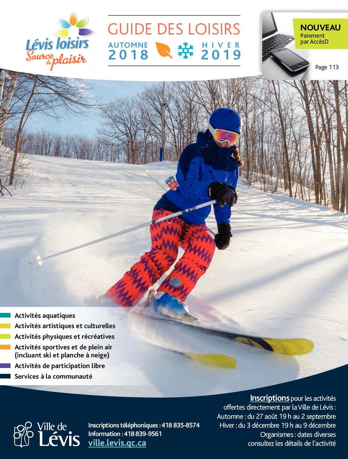 Calaméo - Guide des loisirs - Automne 2018 - Hiver 2019 2522a5faf89