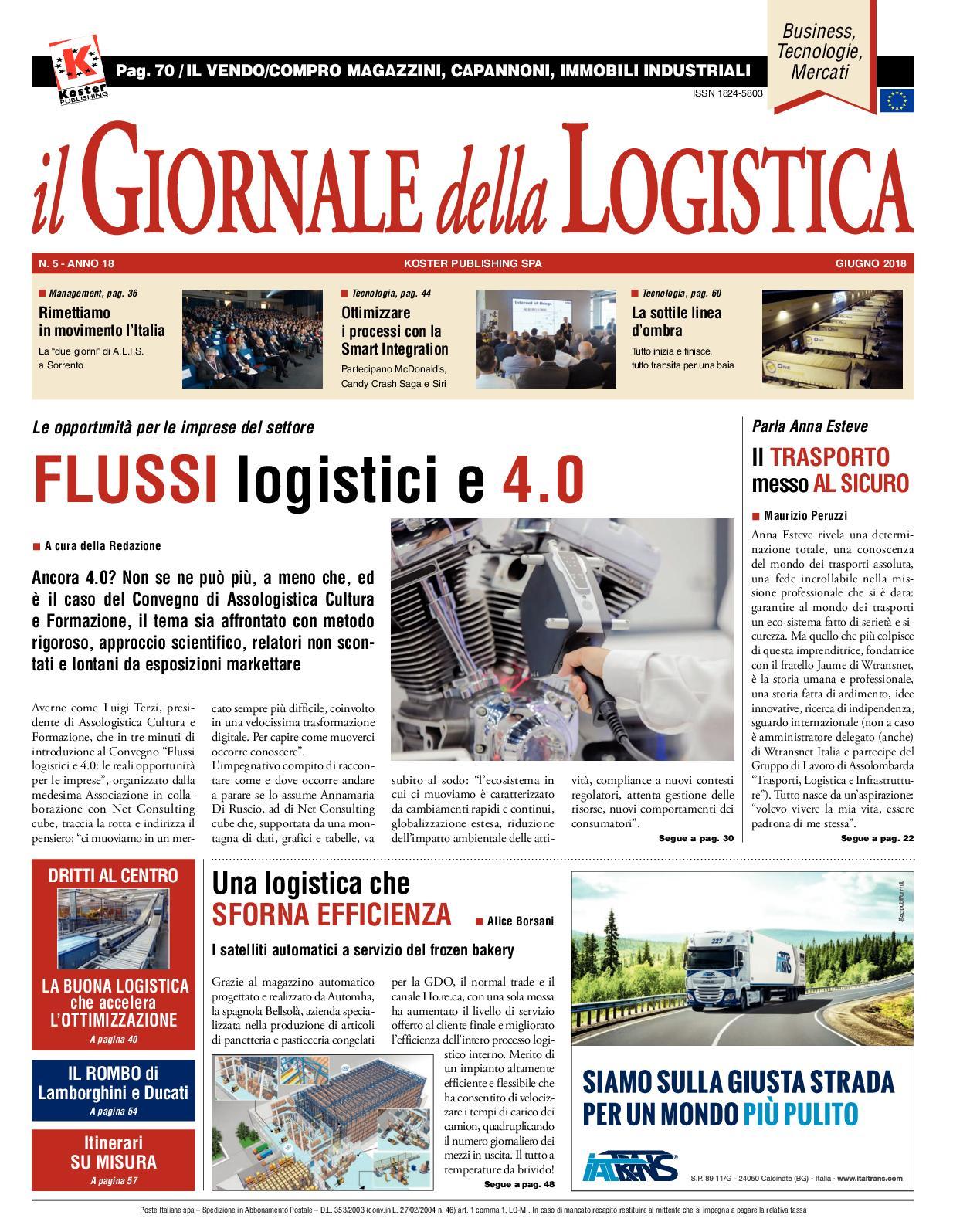 8cbcbc5bb4 Calaméo - Il Giornale Della Logistica - Giugno 2018
