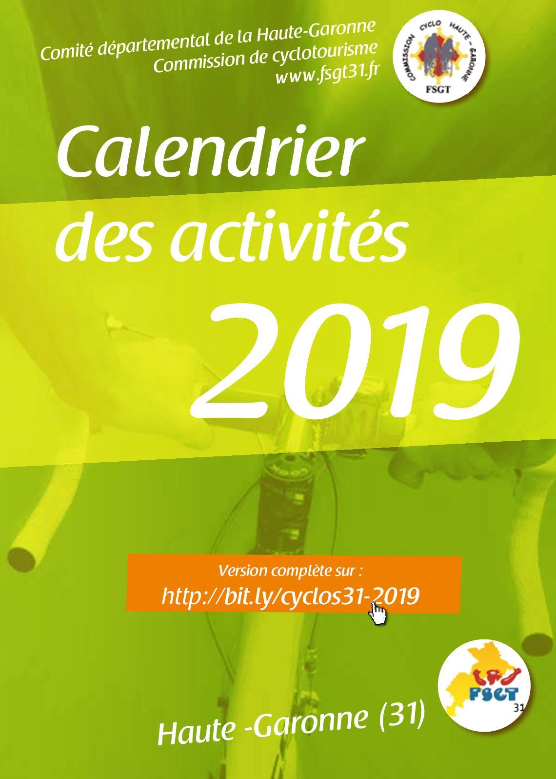 Calendrier Fsgt Cyclisme 2019.Calameo Calendrier Des Activites Cyclo Fsgt31 2019