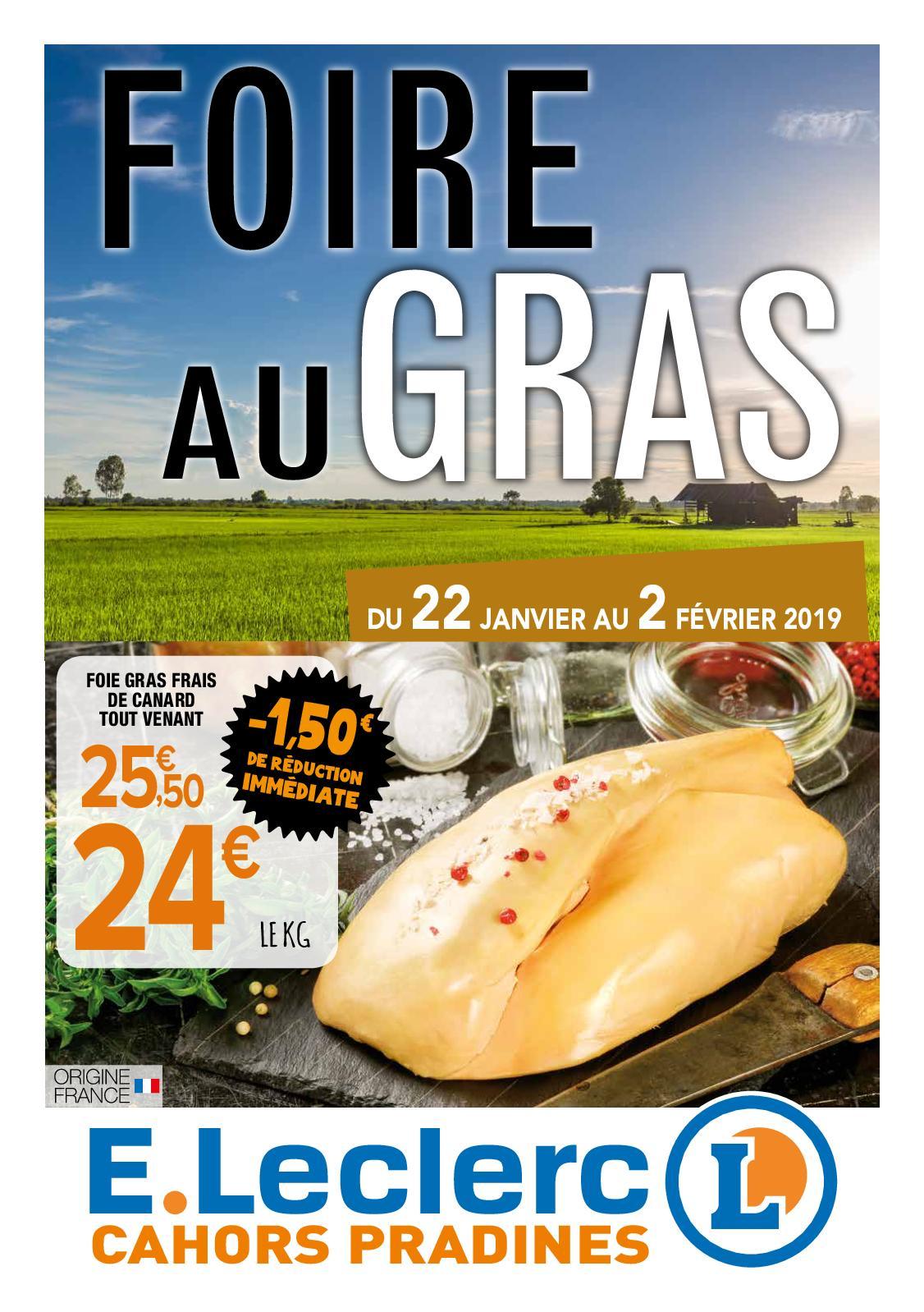 Calaméo Eleclerc Cahors Pradines Catalogue Foire Au Gras