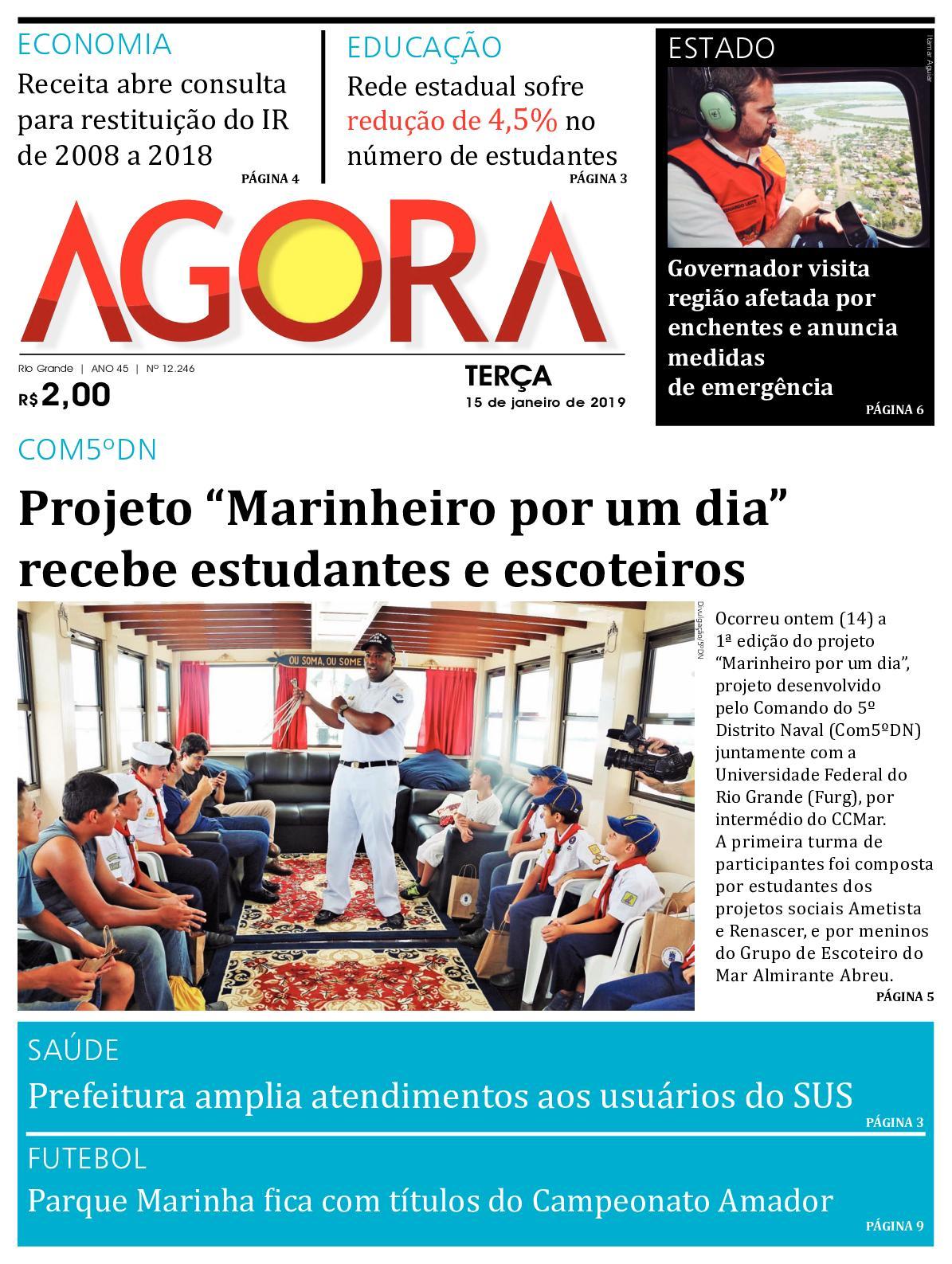 92d705955 Calaméo - Jornal Agora - Edição 12246 - 15 de Janeiro de 2019
