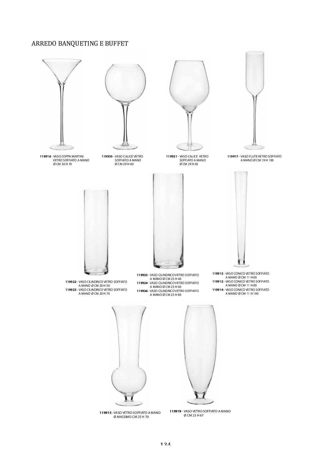 30/cm x 12/cm Vaso cilindrico in vetro