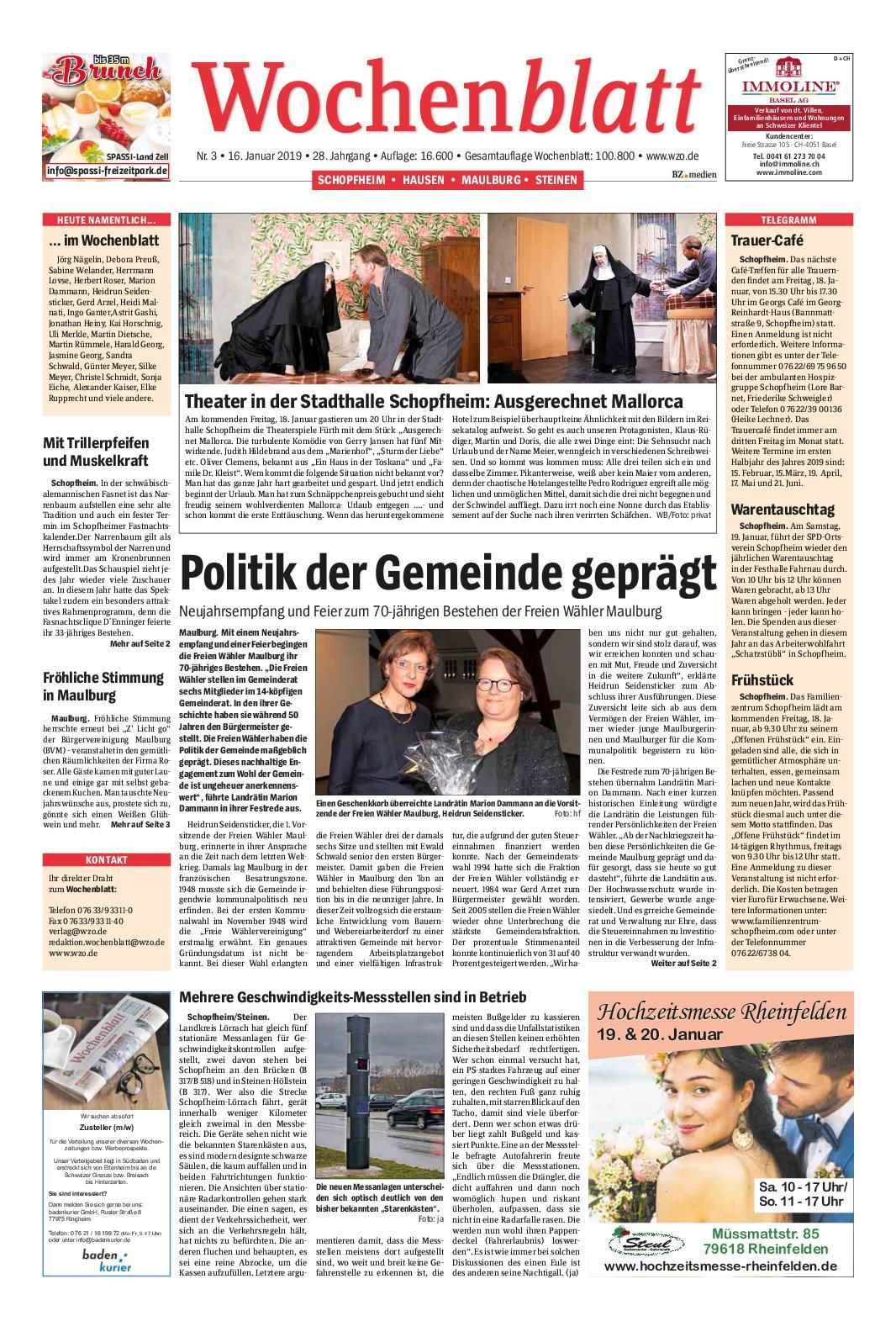 Calameo Wochenblatt Schopfheim