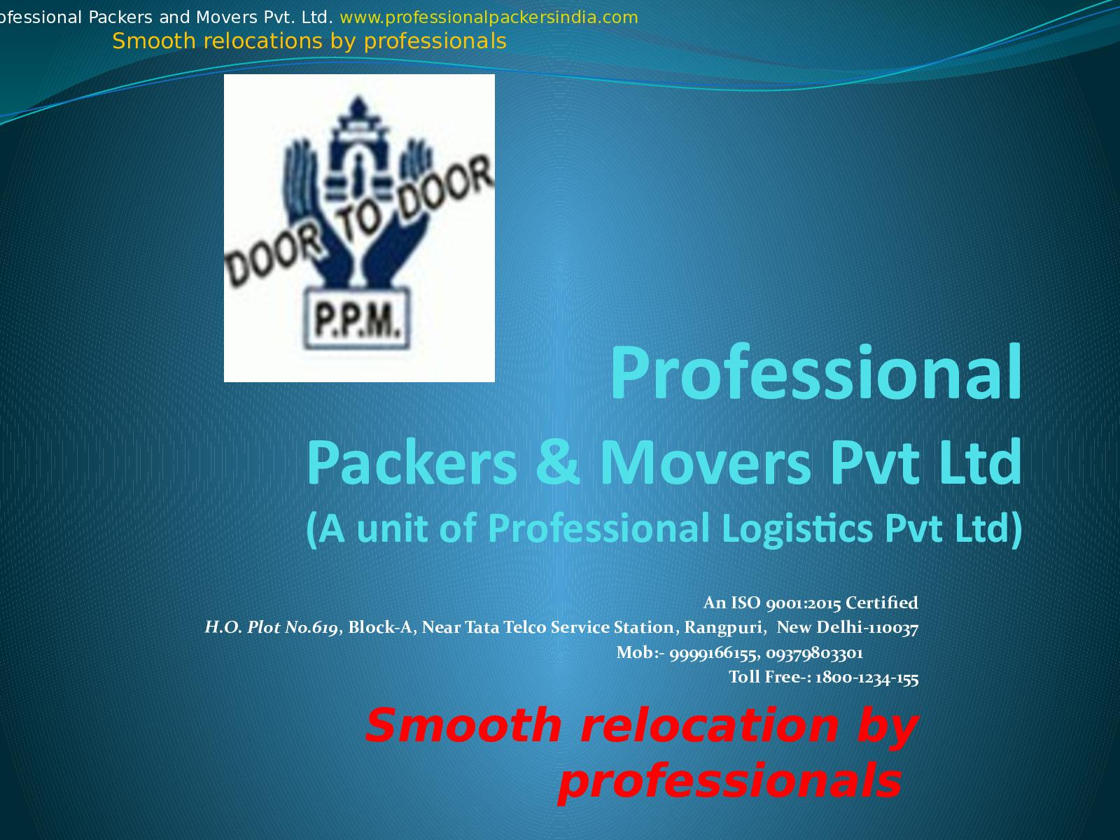 Calaméo - Professional Packers And Movers Pvt Ltd