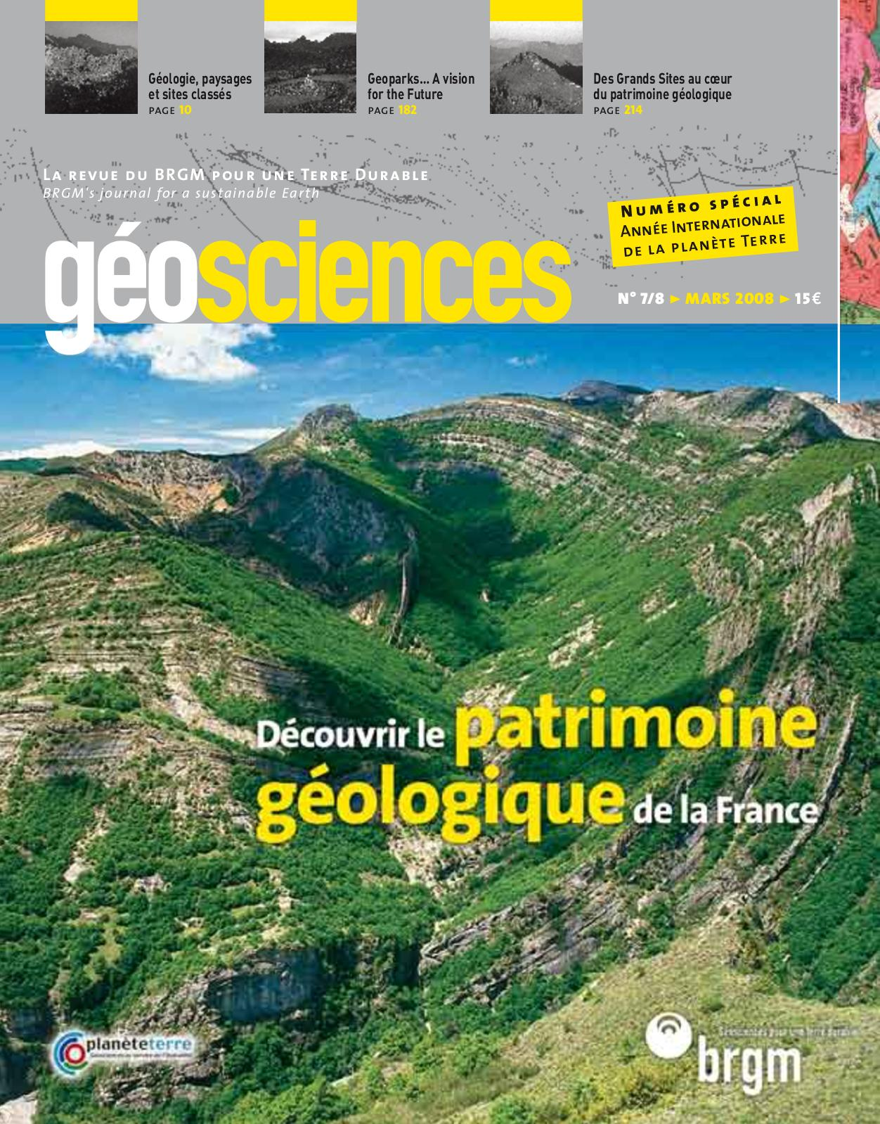 Géologique section transversale relative datant