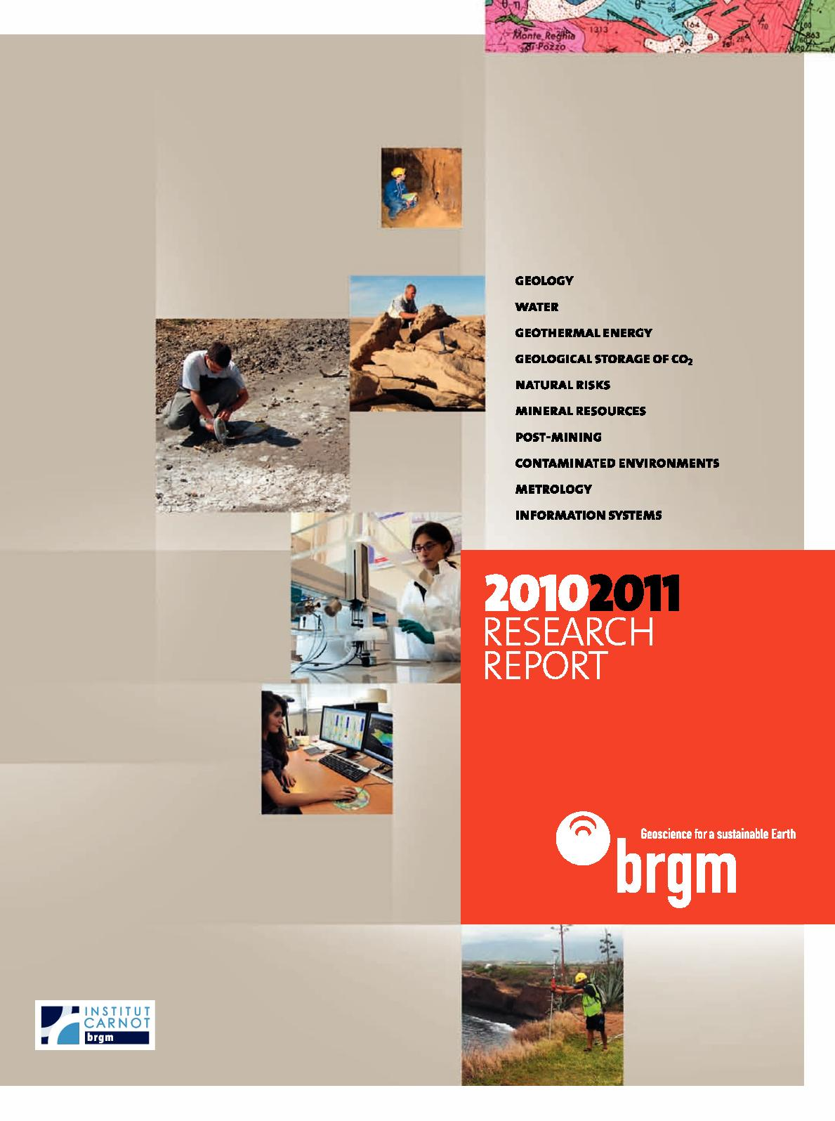 Calaméo - 2010-2011 Research Report | BRGM