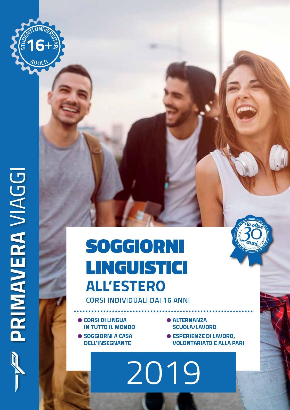 Calaméo - Primavera Viaggi - Soggiorni Linguistici 2019
