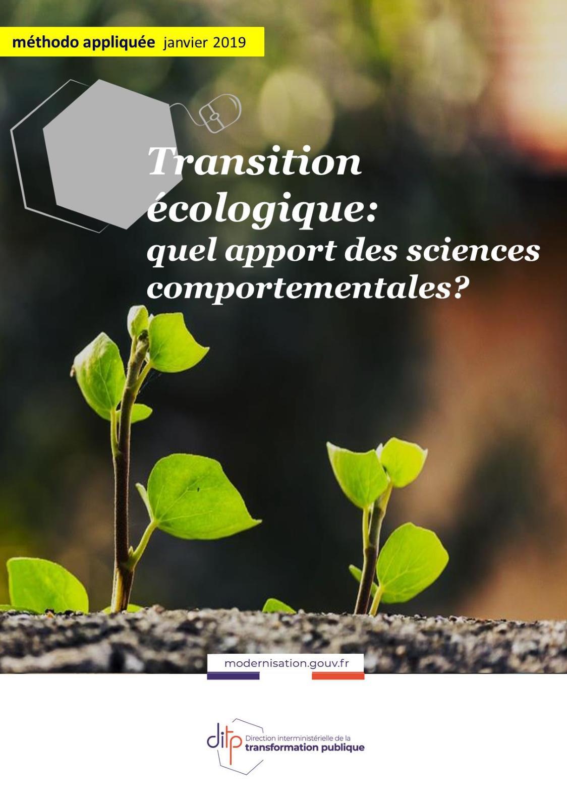 Transition écologique : l'apport des sciences comportementales
