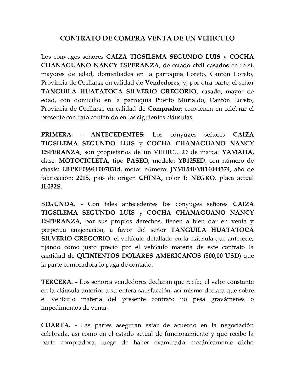 Calaméo Contrato Compra Venta De Vehiculo Casados