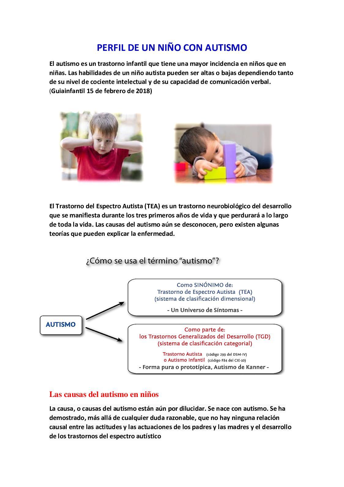 como se manifiesta el autismo en los ninos