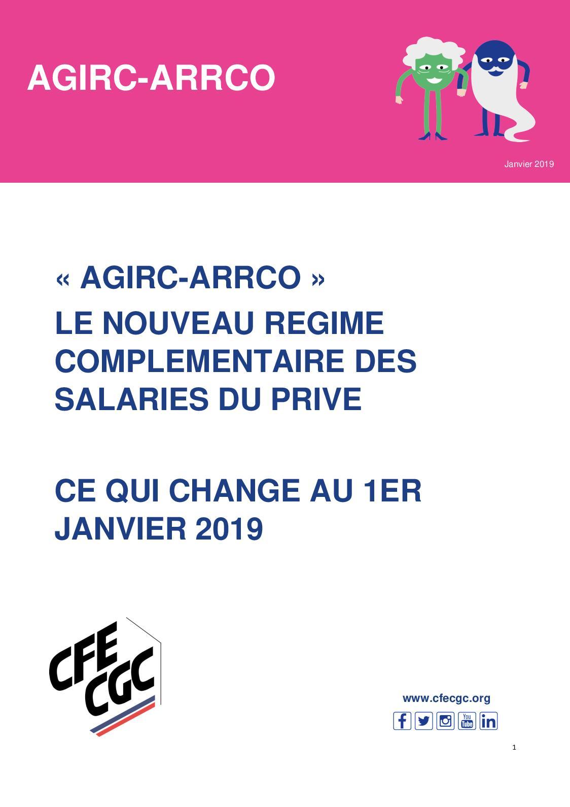 Calameo Agirc Arrco Ce Qui Change Au 1er Janvier 2019