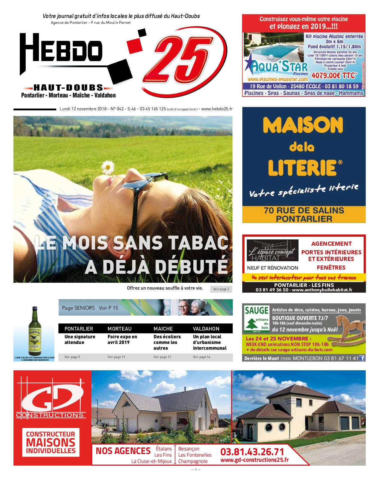 nouveau design haut de gamme pas cher styles frais Calaméo - Hebdo Pontarlier 46 2018