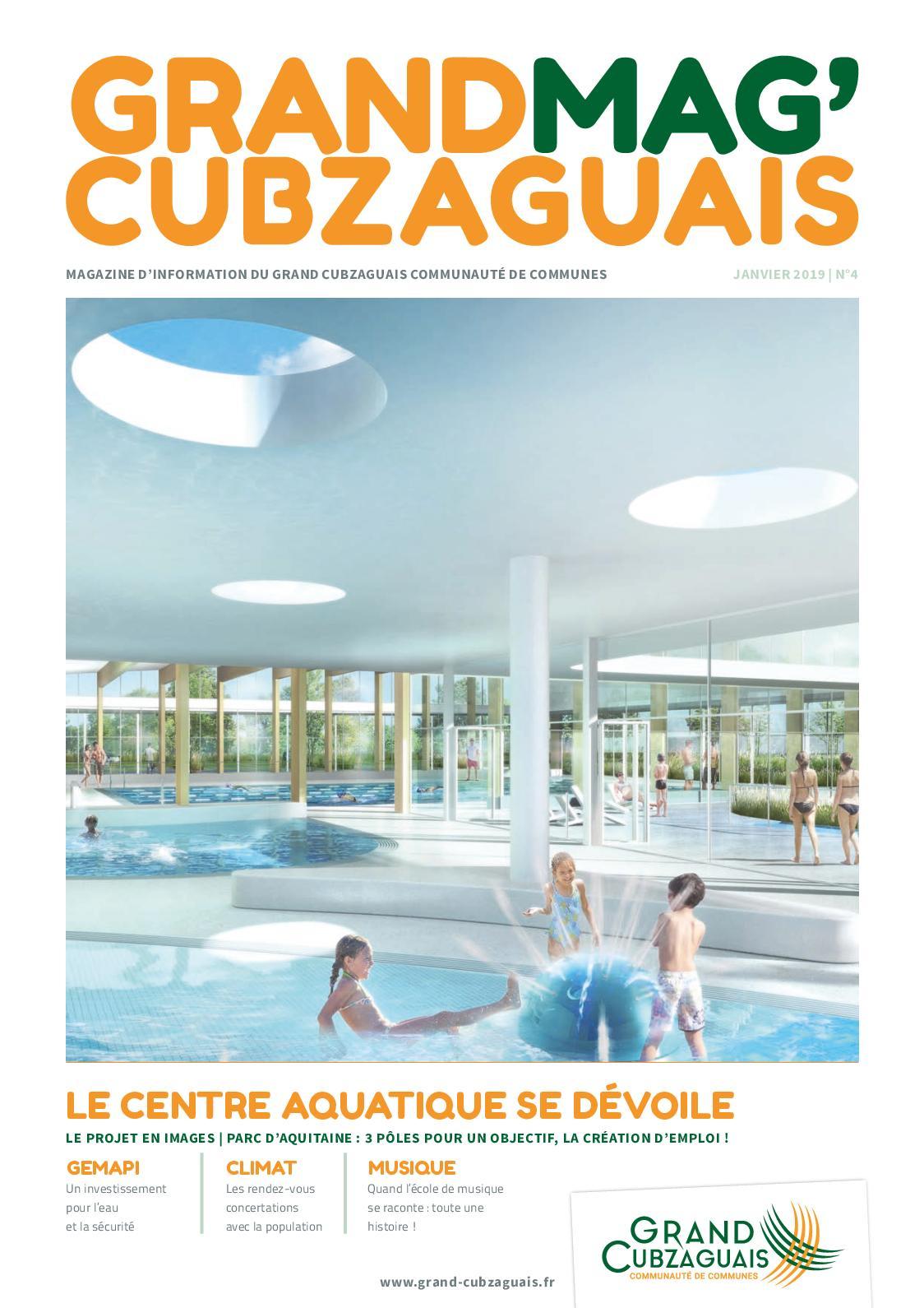 Projet Piscine Saint Andre De Cubzac calaméo - grand mag grand cubzaguais n°4 - janvier 2019