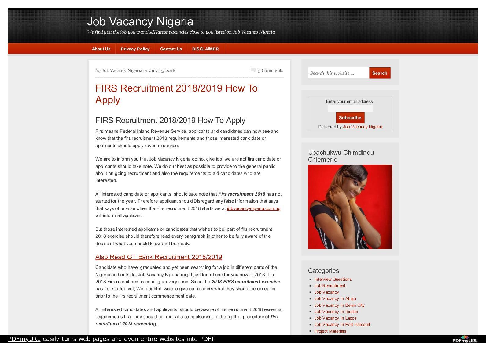 Calaméo - Www Jobvacancynigeria Com Ng Firs Recruitment 2018 2019