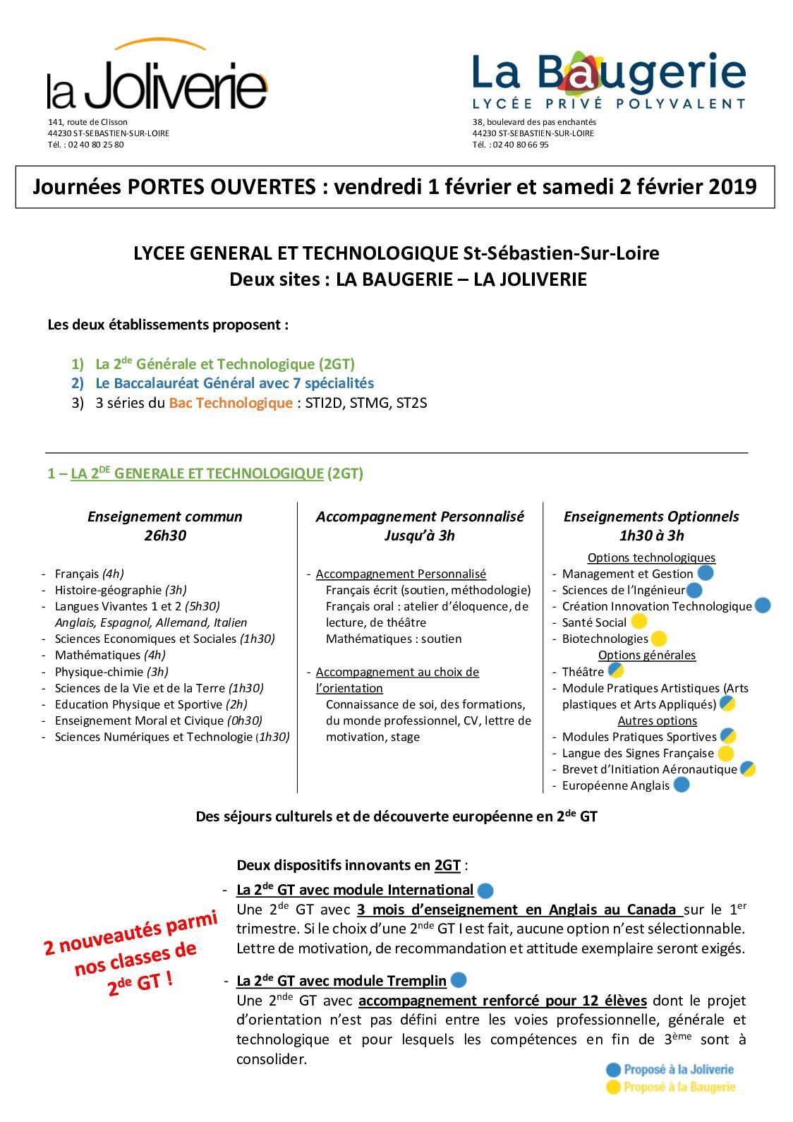 Calaméo Le Nouveau Bac Général à La Joliverie