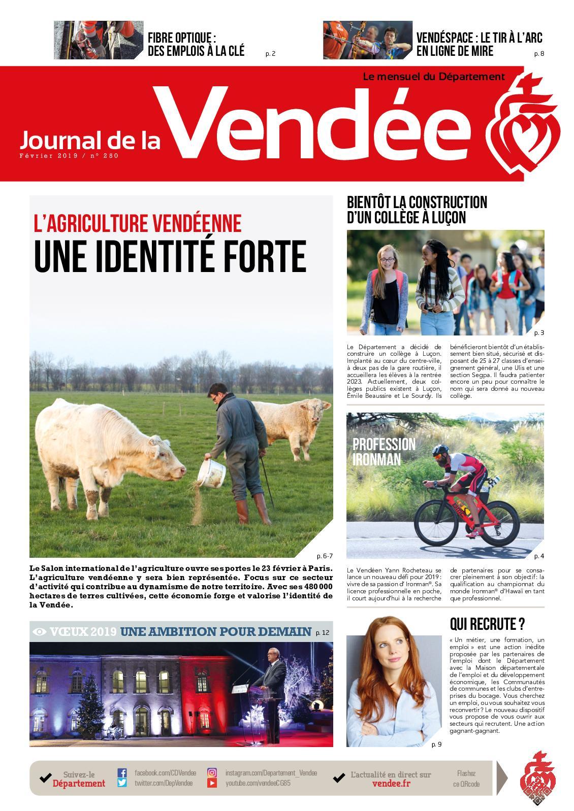Randonnee Pedestre Vendee Calendrier 2020.Calameo Journal De La Vendee N 250 Fevrier 2019