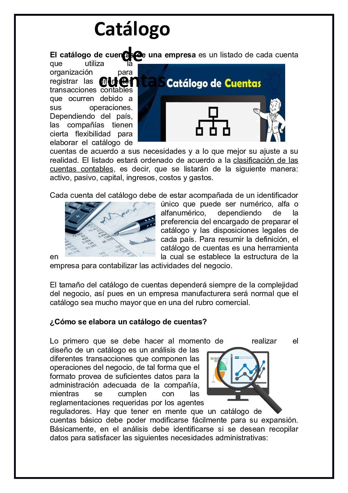 Calaméo El Catálogo De Cuentas De Una Empresa