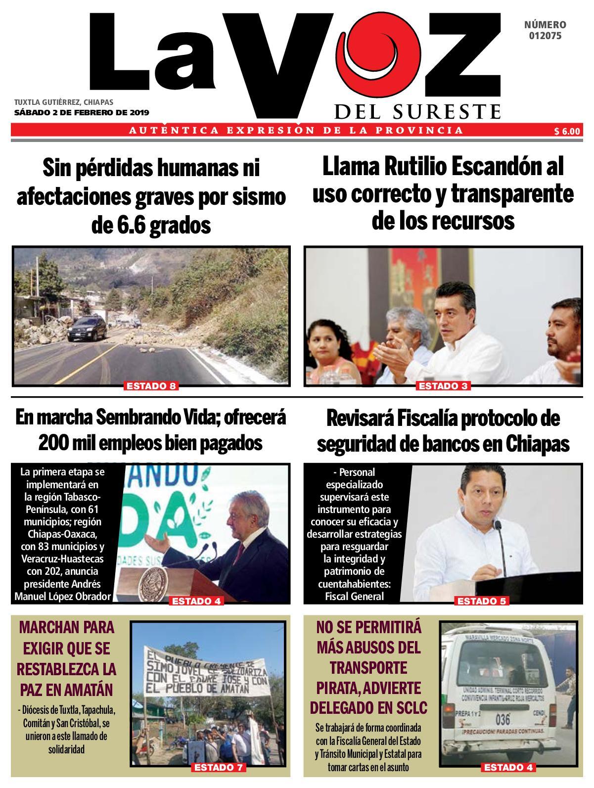 Calaméo Diario La Voz Del Sureste 02 02 2019