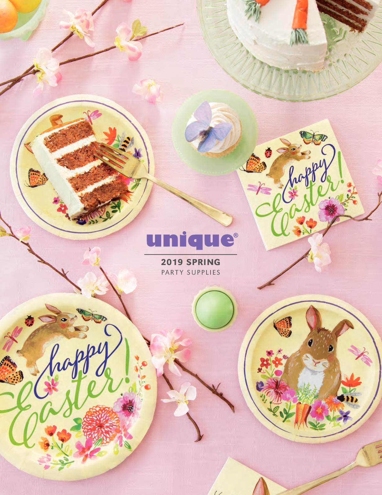 Pack of 3 Hanging Swirl Floral Easter Bunny Decorations Unique Party 72639