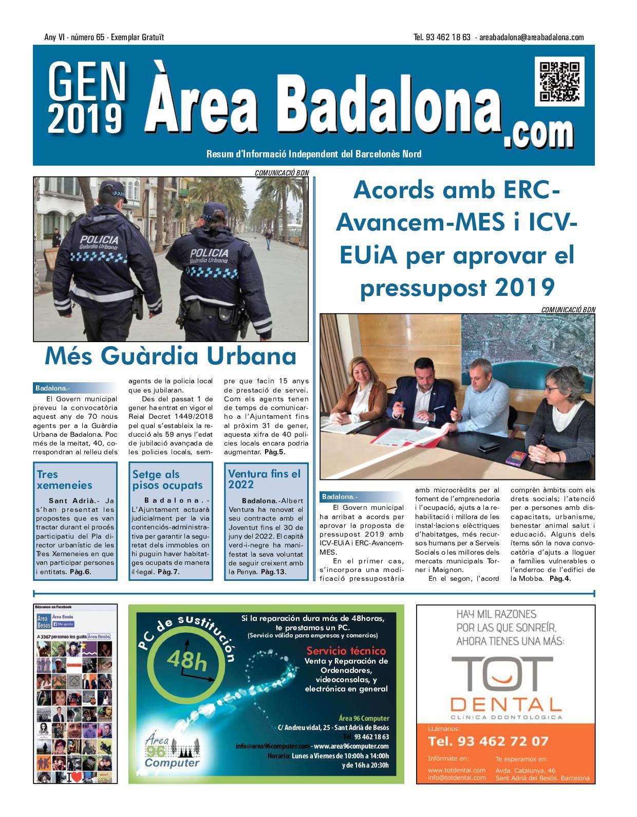 Calameo Area Badalona 65 Gener 2019