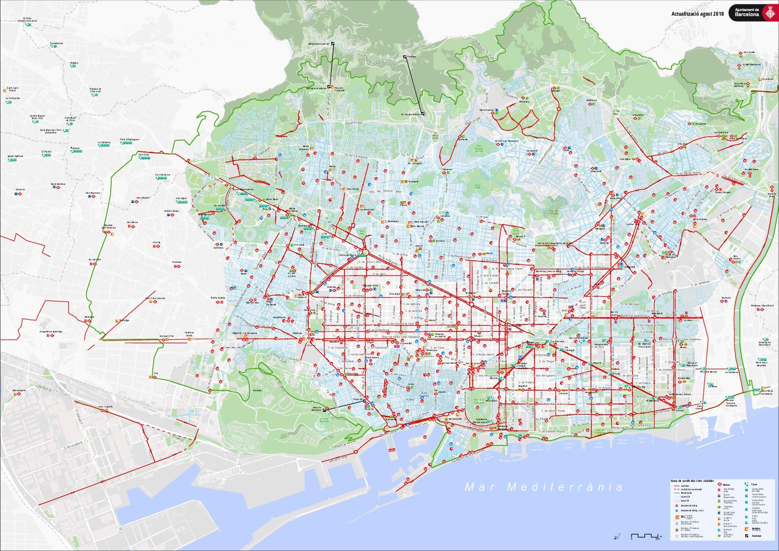 Mapa Carrils Bici Barcelona.Calameo Barcelona Mapa Carrils Bici