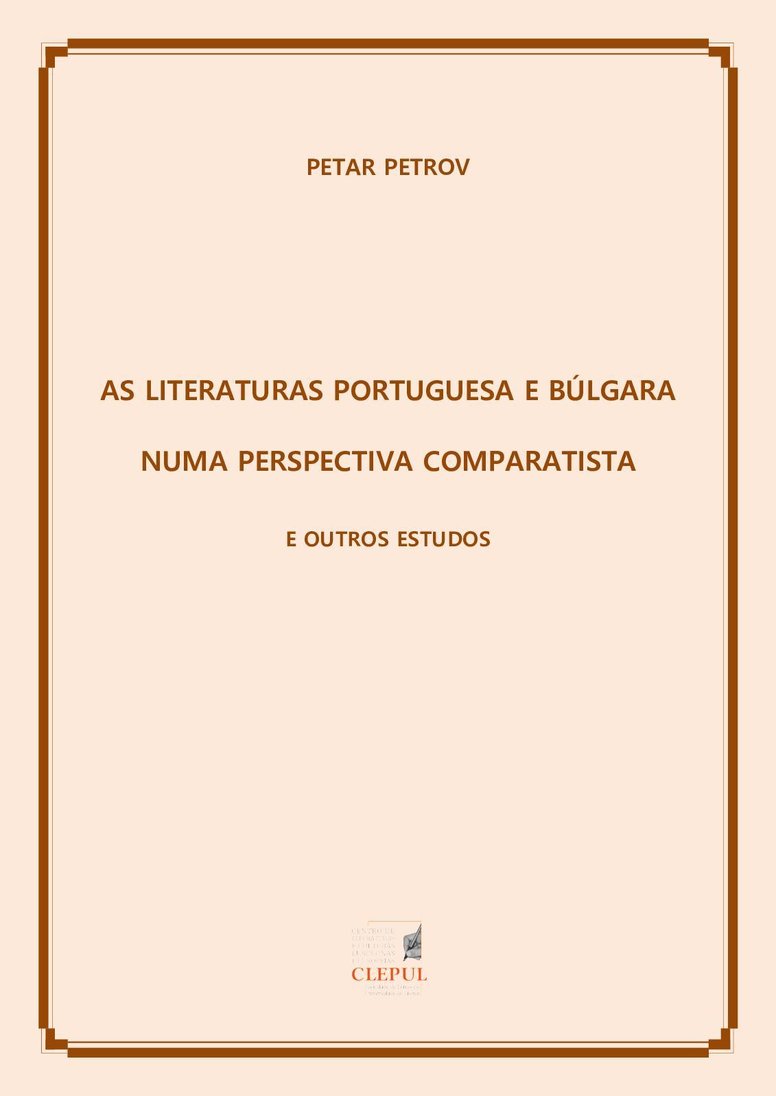 0c6ad2397 Calaméo - As Literaturas Portuguesa E Búlgara Numa Perspectiva Comparatista  E Outros Estudos