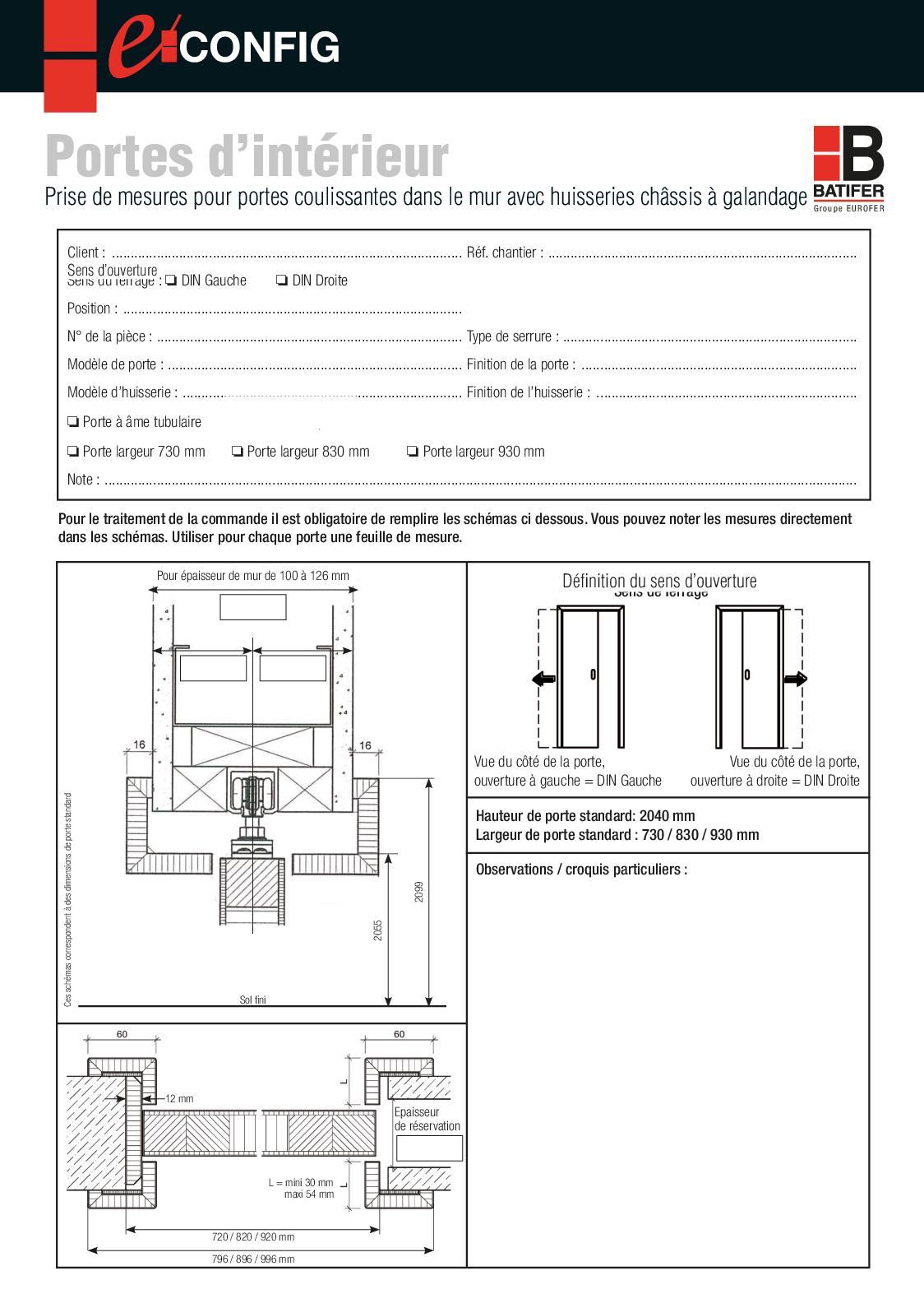 Plan Porte À Galandage calaméo - portes coulissantes dans le mur avec huisseries