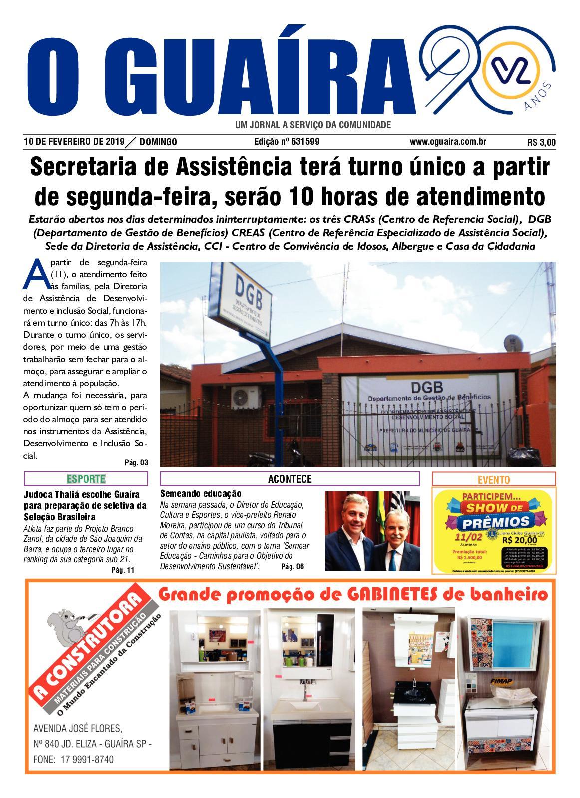 0abb883b0a3f2 Calaméo - Jornal O Guaíra 10 02 2019