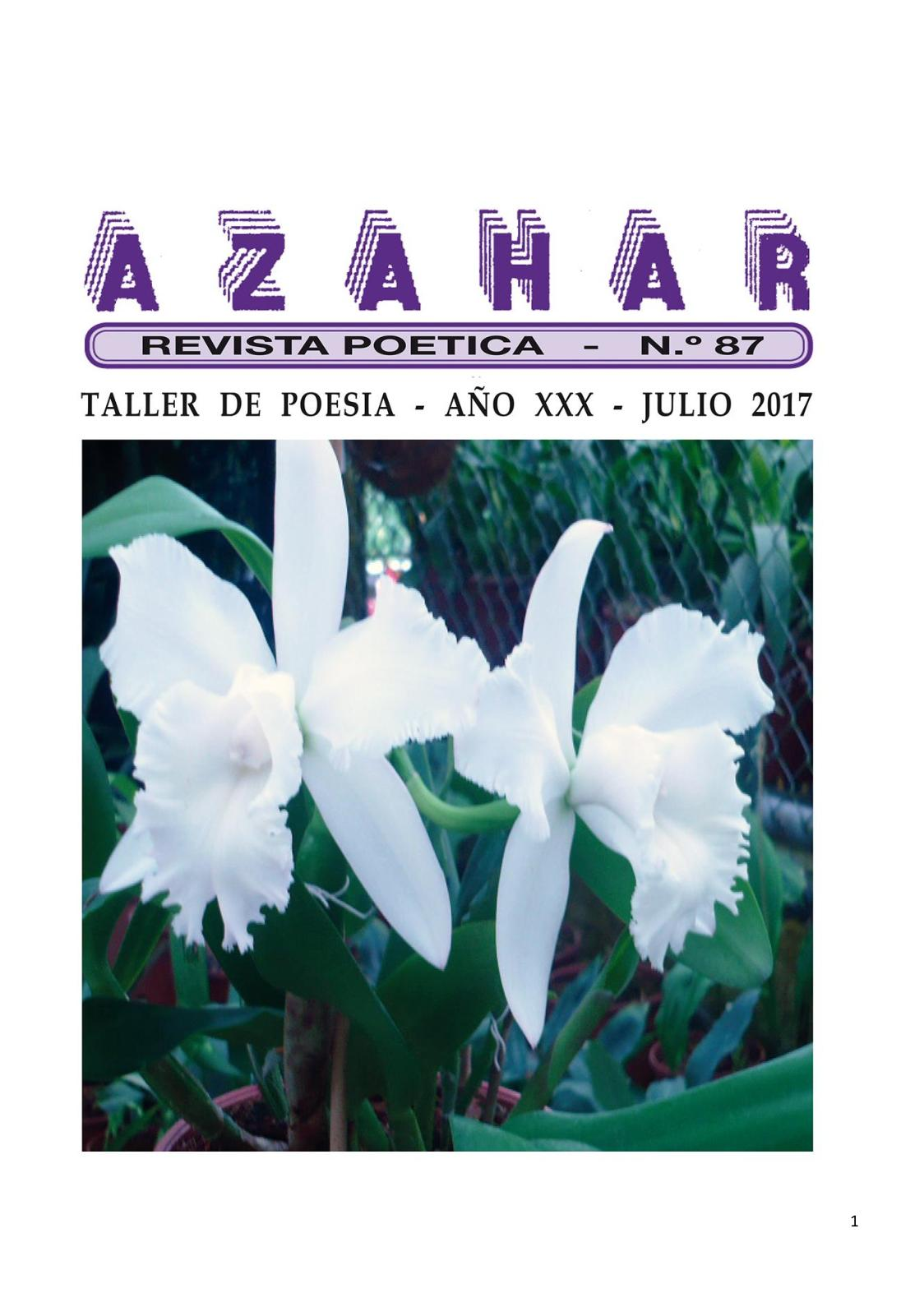 Ochenta Revista Poética Azahar Y Siete Calaméo Edición CxeBodrW